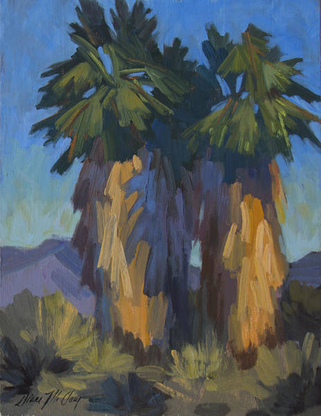 Wall Art - Painting - Palms With Skirts by Diane McClary