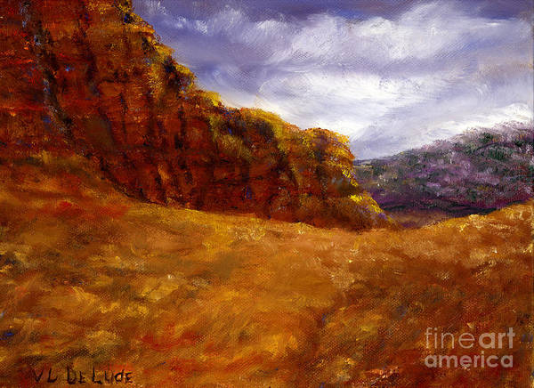 Painting - Palo Duro Canyon Texas Hand Painted Art by Lenora  De Lude