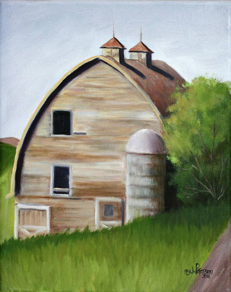Silo Painting - Palouse Barn by Peterson, Julie