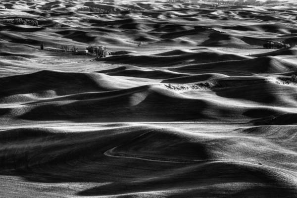 Photograph - Palouse In Black And White by Mark Kiver