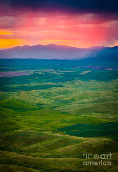 North Country Photograph - Palouse Storm At Dawn by Inge Johnsson
