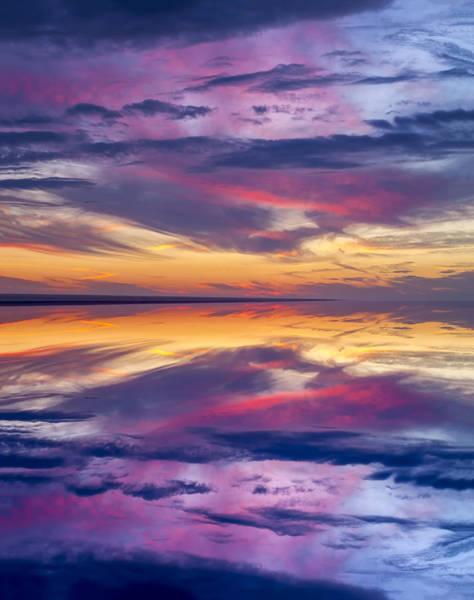 Photograph - Pamlico Sky Reflection by Jim Dollar