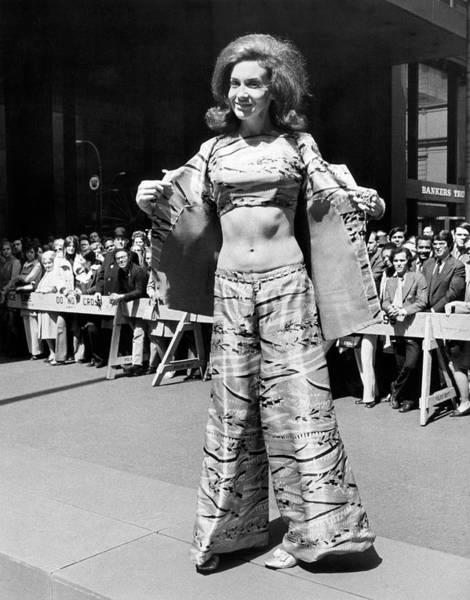 Runway Model Photograph - Pan American Fashion Show by Underwood Archives