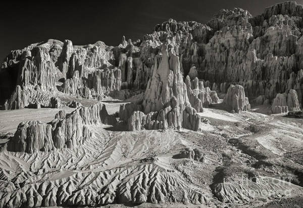 Photograph - Panaca Sandstone Formations In Black And White Nevada Landscape by Dave Welling