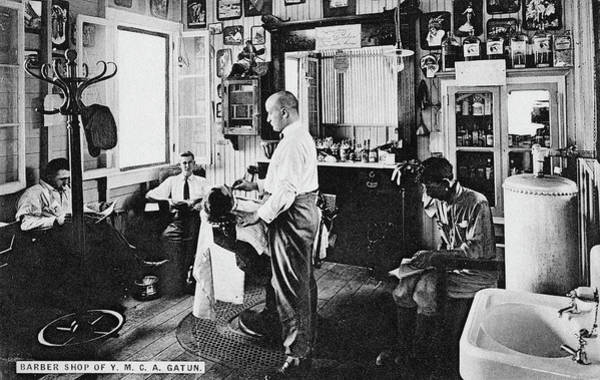 Wall Art - Photograph - Panama Barber Shop, C1910 by Granger
