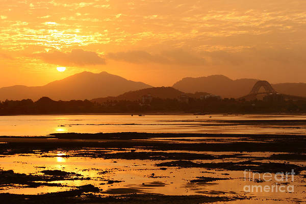Photograph - Panama Canal Sunset by James Brunker