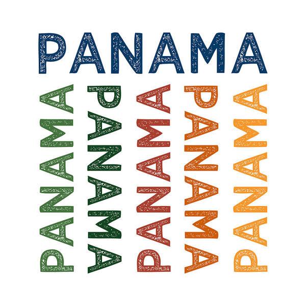 Panama Digital Art - Panama Cute Colorful by Flo Karp