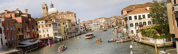 Photograph - Panarama Grand Canal In Venice Italy From Bridge by Raimond Klavins