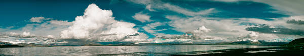 Photograph - Panarama Mountain Lake In Tibet Manasarovar by Raimond Klavins