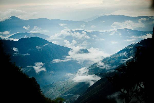 Wall Art - Photograph - Panaramic Himalayas Mountain With Clouds by Raimond Klavins