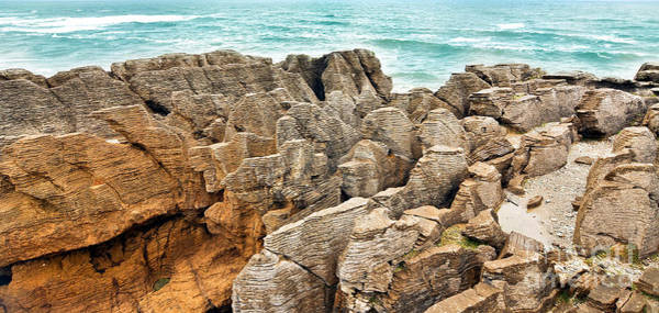 Wall Art - Photograph - Pancake Rocks by Delphimages Photo Creations
