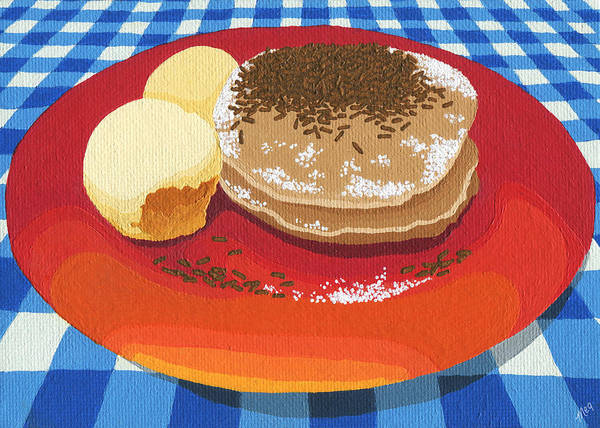 Wall Art - Painting - Pancakes Week 15 by Meg Shearer