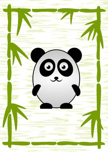 Digital Art - Panda - Animals - Art For Kids by Anastasiya Malakhova