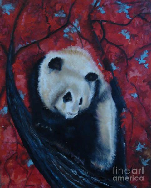 Panda Art Print by Donna Chaasadah