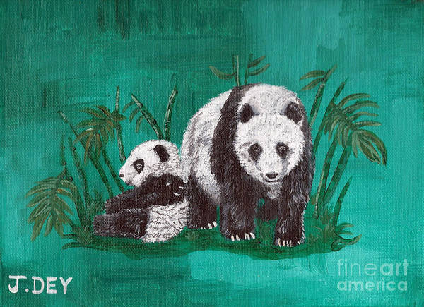 Painting - Big Panada Little Panda by Janelle Dey