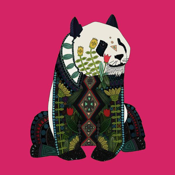 Yellow Ochre Wall Art - Drawing - Panda Ochre by MGL Meiklejohn Graphics Licensing