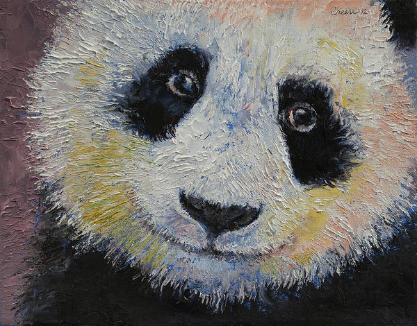 Sad Painting - Panda Smile by Michael Creese
