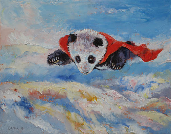 Giant Painting - Panda Superhero by Michael Creese