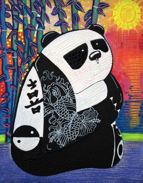 Wall Art - Painting - Panda Zen Master by Laura Barbosa