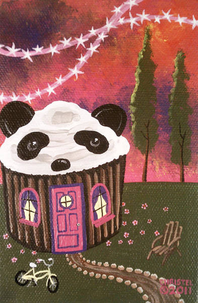 Fairy Cakes Painting - Pandacake by Christel Arant