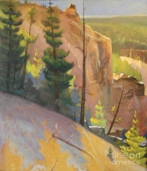 Painting -  Yellowstone Canyon - Tolpo Point Mural  Panel 1 by Art By Tolpo Collection