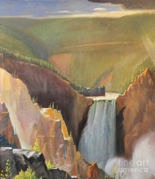 Painting - Yellowstone Canyon - Tolpo Point Mural Panel 2 by Art By Tolpo Collection