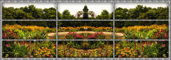 Wall Art - Photograph - Sample Paneled Flower Garden Mirror Image by Thomas Woolworth