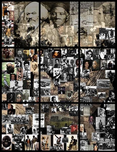 Mlk Digital Art - Panes Of History by Marcus Lewis