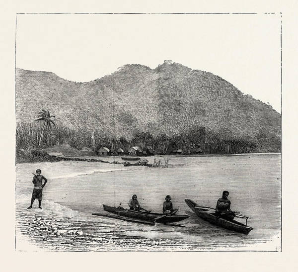 Wall Art - Drawing - Pango Harbour, Samoan Islands by Samoan School