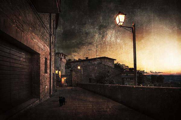 Painterly Photograph - Panicale At Sunset by Nicodemo Quaglia