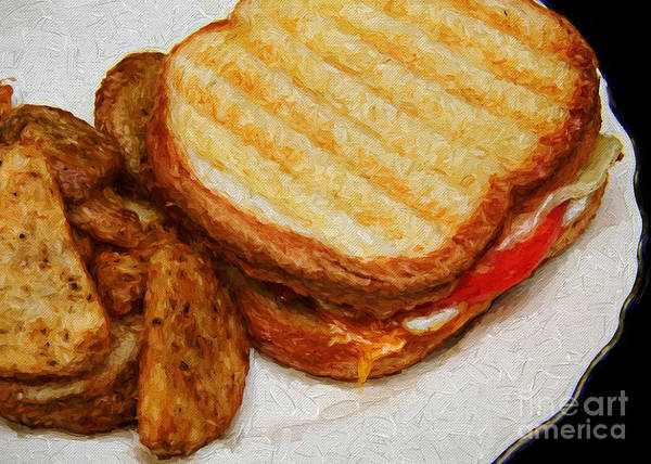 Photograph - Panini Sandwich And Potato Wedges 2 by Andee Design