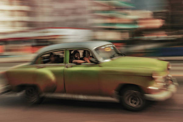 Laughs Wall Art - Photograph - Panning Havana by Andreas Bauer
