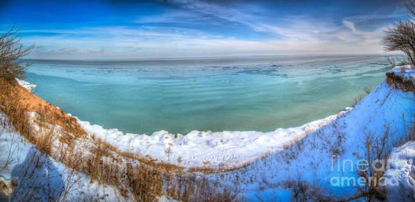 Wall Art - Photograph - Panning Lake Michigan by Andrew Slater