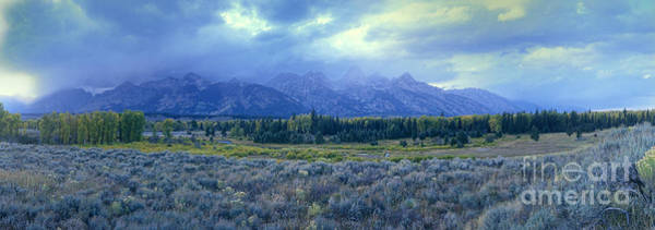 Photograph - Panorama Clearing Storm Blacktail Ponds Grand Tetons National Park by Dave Welling
