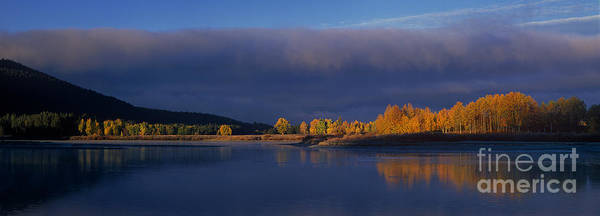 Photograph - Panorama Clearing Storm Oxbow Bend Grand Tetons National Park Wyoming by Dave Welling