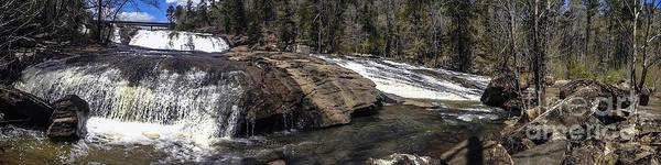 Photograph - Panorama High Falls Georgia 2 by Ginette Callaway