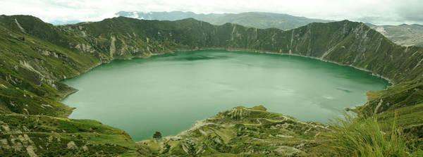 Laguna Mountains Photograph - Panorama, Laguna Quilotoa, Andes by Christian Heeb