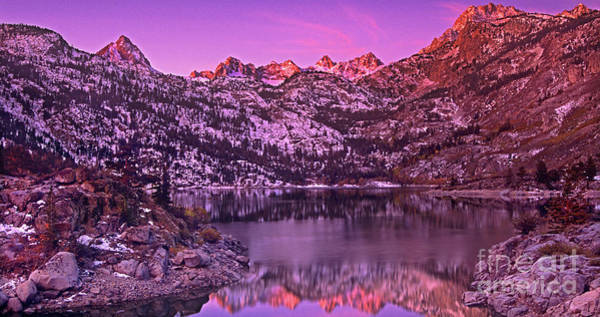 Photograph - Panorama Lake Sabrina Eastern Sierras California by Dave Welling