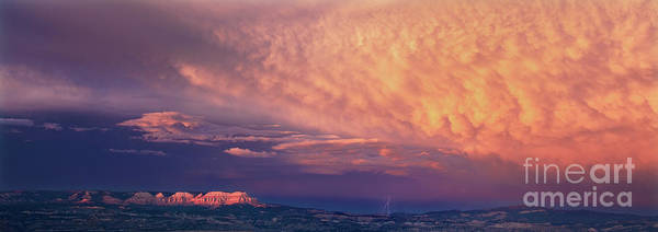 Photograph - Panorama Lightning Paunsaugunt Plateau Near Bryce Canyon Np by Dave Welling