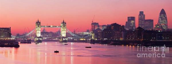 Wall Art - Photograph - Panorama - London Skyline by Pg Reproductions