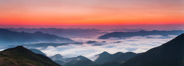 Wall Art - Photograph - Panorama Of A Beautiful Sunrise In The by Anton Petrus