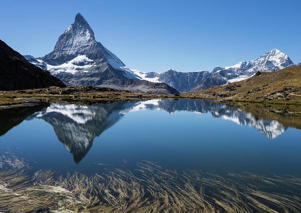 Sparse Photograph - Panorama Of Beautiful Matterhorn And by Rhyman007