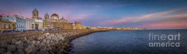 Photograph - Panorama Of Cadiz From Campo De Sur Spain by Pablo Avanzini