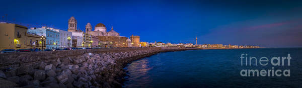 Photograph - Panorama Of Cadiz From Campo Del Sur Spain by Pablo Avanzini