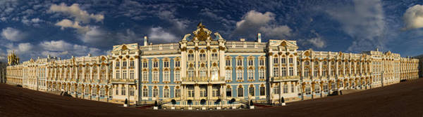 Call Building Photograph - Panorama Of Catherine Palace by David Smith