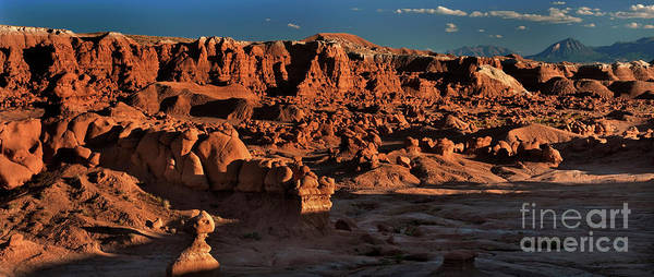 Photograph - Panorama Of Hoodoos At Sunset Goblin Valley State Park Utah by Dave Welling