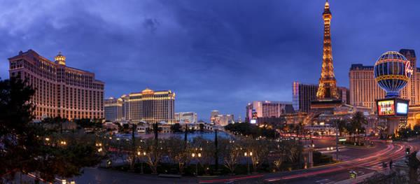 Mojave Photograph - Panorama Of Las Vegas by Silvio Ligutti
