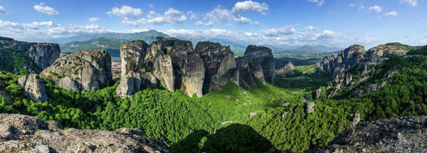 Wall Art - Photograph - Panorama Of Metéora Greece by Martin Smith