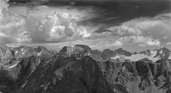 Photograph - 109334-bw-panorama Of Northern Wind River Range by Ed  Cooper Photography