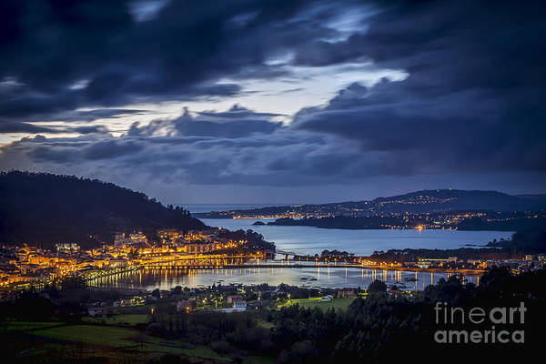 Photograph - Panorama Of Pontedeume From Cabria Noguerosa Galicia Spain by Pablo Avanzini